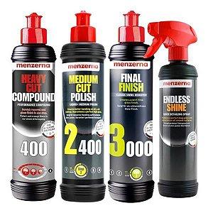 Kit Polimento Hcc400 2400 3000 250ml+ Endless Shine Menzerna