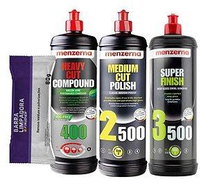 Kit Polimento Hcc400 Green 2500 3500 1l Menzerna + Clay Bar