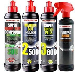 Kit Polidores 300 Green 2500 3800 250ml + Endless Menzerna