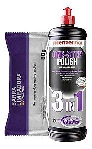 Polidor 3 Em 1 Corte Lustro Cera 1l + Clay Bar Menzerna