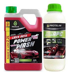 Shampoo Lava Auto Power Wash 2,2l + Apc Multilimpador 1l