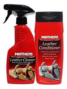 Kit Limpeza E Hidratação De Couro 355ml - Mothers