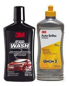 Kit Shampoo Car Wash + Auto Brilho 500ml 3m