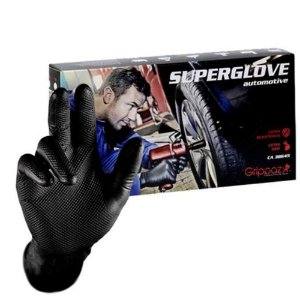 Luva Preta Nitrilo T 07 (P) - 50 Unidades - Superglove Automotive