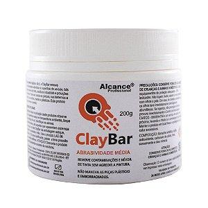 Clay Bar Abrasiva Média 200g - Alcance
