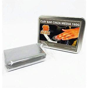 Clay Bar Cinza Médio (Removedor de Contaminantes) 160gr - Kers