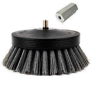"""Escova Pneumatic Carpet Brush 3,5"""" (Cinza) Média - SGCB"""