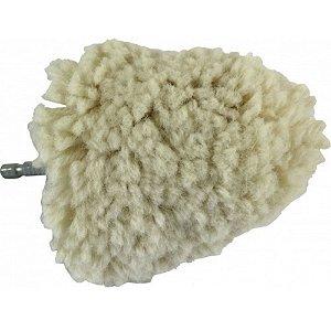 "Cone de Lã Branco 3"" Para Polimento de Rodas - Kers"