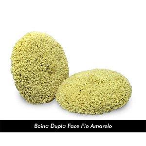 Boina de Lã Amarela - Dupla Face 8¨ Refino - Lincoln