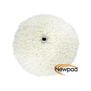 "Boina de Lã Branca Dupla Face 6"" Newpad"