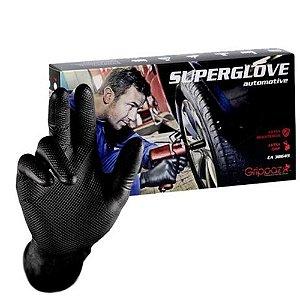Luva Preta Nitrilo T 09 (G) - 50 Unidades - Superglove Automotive