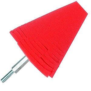 Cone P/ Polimento De Rodas Vermelho Kers