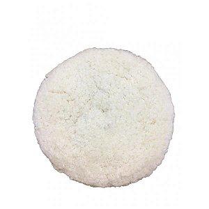 """Boina de Lã Branca - Dupla Face 8"""" - Buff And Shine"""