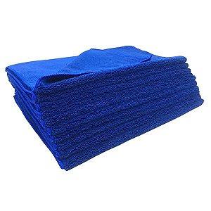Kit C/10 Toalha de Microfibra Azul 40x60cm 300GSM - EXC