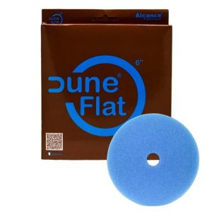 "Boina de Espuma Flat Azul Dune 6"" Super Agressiva (C/ Furo) - Alcance"