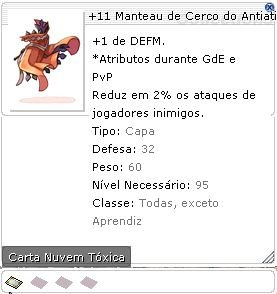 +11 Manteau de Cerco do Antiatirador