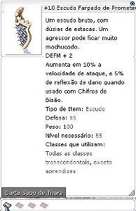 +10 Escudo Farpado de Prometeu
