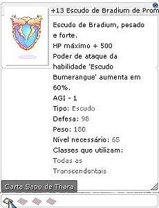 +13 Escudo de Bradium de Prometeu
