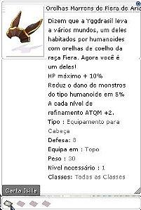 Orelhas Marrons de Fiera de Aria