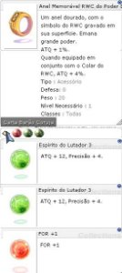 Anel Memóravel RWC do Poder Duplo Lutador 3/3 For +1