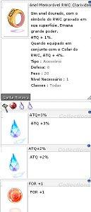 Anel Memorável RWC Clarividente ATQ 3%/2% For +1