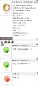 Anel Memorável RWC Clarividente Lutador 3/2 For +1