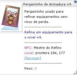 Pergaminho de Armadura +9