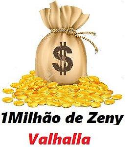 1 milhão de Zeny - 1 kk ( Ragnarok Valhalla )