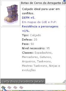 Botas de Cerco do Arrogante Selado