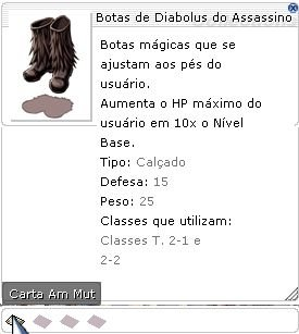 Botas de Diabolus do Assassino