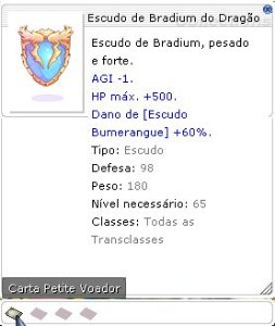 Escudo de Bradium do Dragão