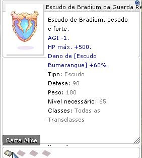 Escudo de Bradium da Guarda Real