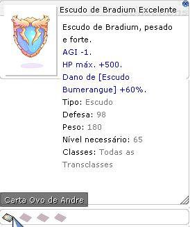 Escudo de Bradium Excelente