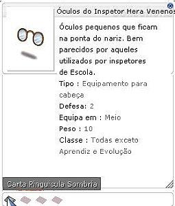 Óculos do Inspetor Hera Venenosa