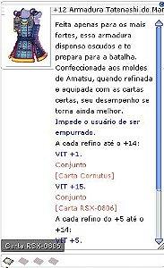 +12 Armadura Tatenashi do Mamute