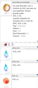 Anel Memorável RWC [1] ATQ 3%/3% For +1