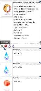 Anel Memorável RWC da Concentração ATQ 3%/3% For +1