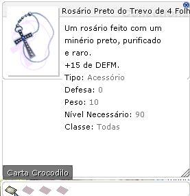 Rosário Preto do Trevo de 4 Folhas