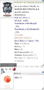Armadura de Diabolus de Ares DES+3