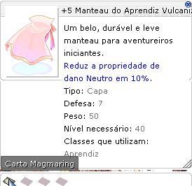 +5 Manteau do Aprendiz Vulcanizada