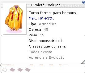 +7 Paletó Evoluído