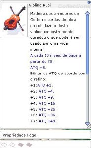 Violino Rubi [2] (Fogo)