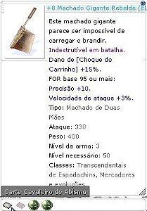 +8 Machado Gigante Rebelde Lutador 5/4