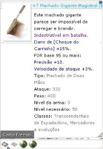 +7 Machado Gigante Magistral Lutador 4/6