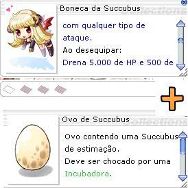 Combo Boneca da Succubus + Ovo de Succubus  Leal Nenhuma