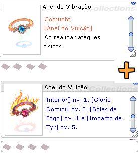Combo Anel da Vibração + Anel do Vulcão