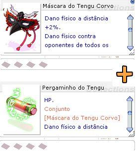 Combo Máscara do Tengu Corvo + Pergaminho do Tengu