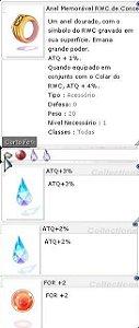 Anel Memorável RWC da Concentração  ATQ 3%/2% For +2