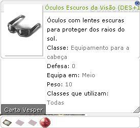 Óculos Escuros da Visão (DES+1)