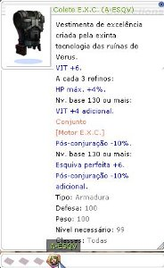 Colete E.X.C (A-ESQV)
